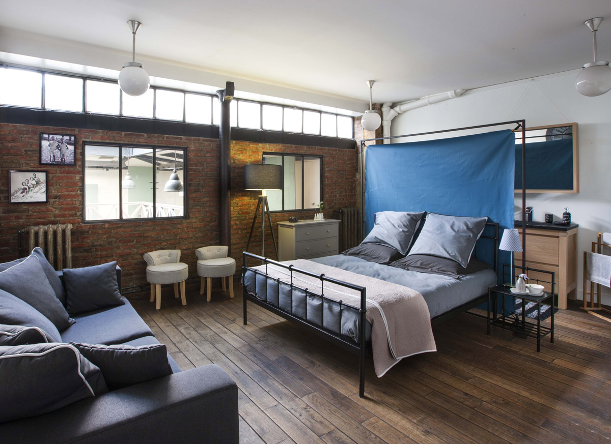 D co chambre loft new yorkais for Idee deco loft new yorkais